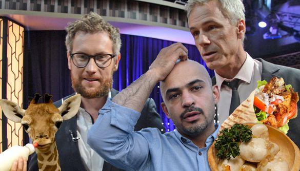 Шаурма чи галушки? Жирафа, Мустафа Найєм та інші за лаштунками «Вечірнього шоу з Юрієм Марченком» на Суспільному