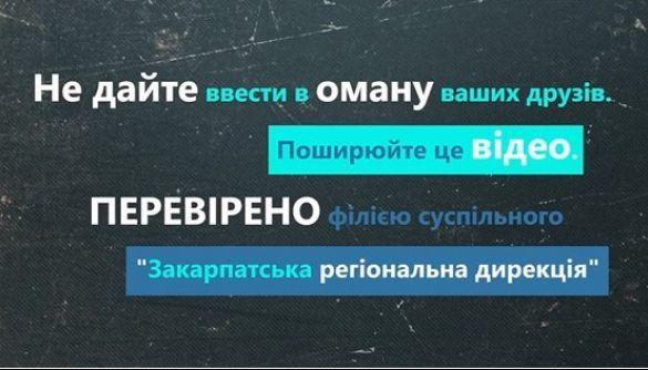 Закарпатська філія Суспільного запускає серію роликів про спростування фейків в інтернеті