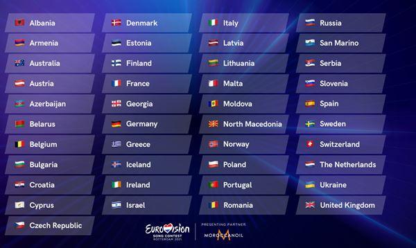 Оголосили список країн, які візьмуть участь у «Євробаченні-2021»