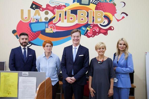 Голова Офісу Ради Європи в Україні Стен Ньорлов відзначив позитивні зміни на Львівській філії Суспільного