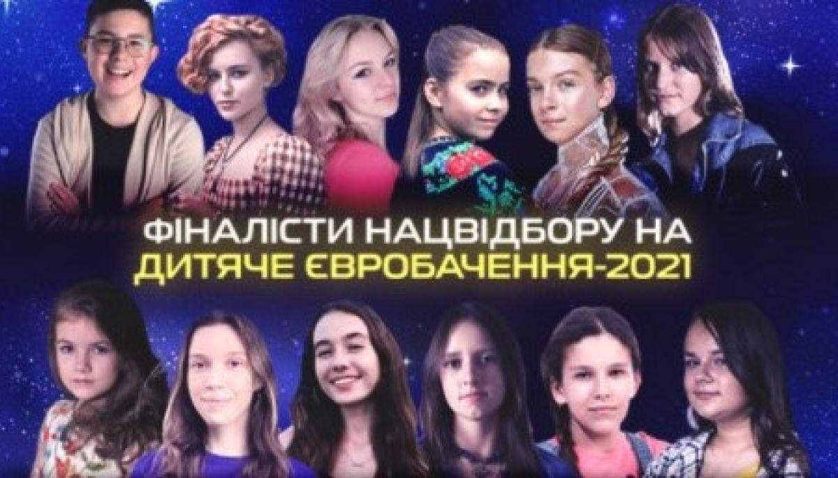 Стали відомі імена 12 фіналістів нацвідбору на дитяче «Євробачення-2021»