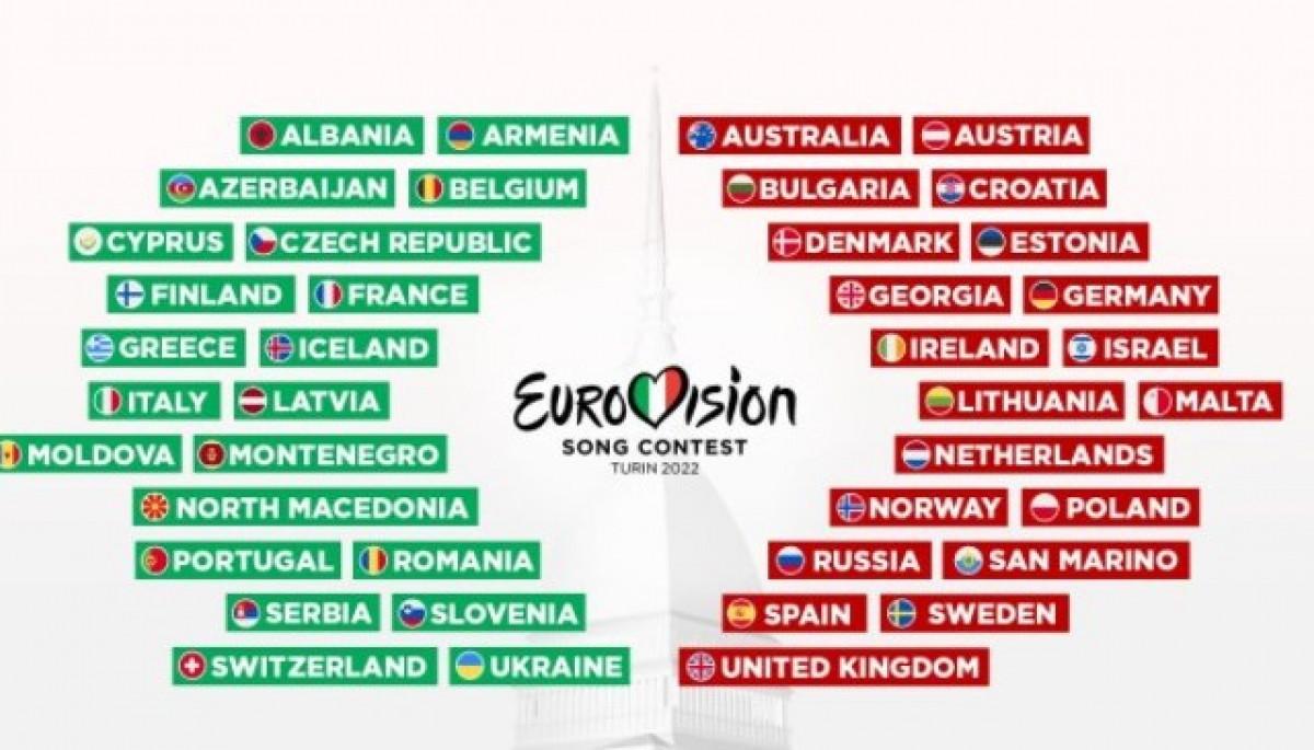 41 країна візьме участь в «Євробаченні-2022»