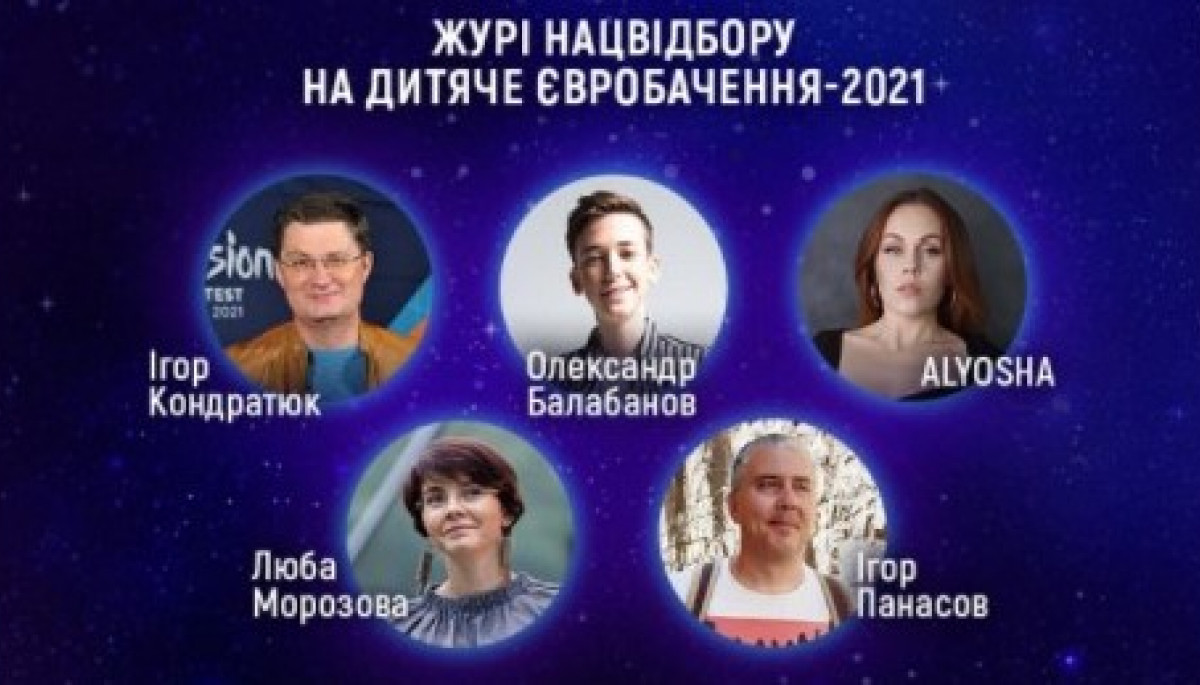 Оголосили імена п'ятьох членів журі нацвідбору на дитяче «Євробачення-2021»